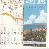 B2049 - Brochure MESSINA Ed.ENIT 1967/MAP/CARTA FIGURATA CIGHERI - Dépliants Touristiques