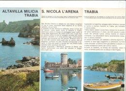 B2051 - Brochure PALERMO - ALTAVILLA MILICIA - S.NICOLA L'ARENA - TRABIA Ed. EPT Anni '80 - Dépliants Touristiques