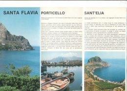 B2052 - Brochure PALERMO - SANTA FLAVIA - SOLUNTO - SOLANTO - PORTICELLO - SANT'ELIA Ed. EPT Anni '80 - Dépliants Touristiques