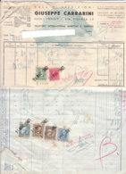 B2060 - FATTURA CARTA INTESTATA CASA DI SPEDIZIONI G.CARRARINI TORINO -TRASPORTI MARITTIMI E TERESTRI -MARCHE BOLLI 1940 - Italie