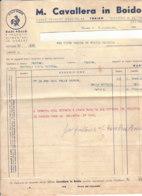 B2063 - FATTURA CARTA INTESTATA CAVALLERA IN BOIDO - PRODOTTI ALIMENTARI - DADI POLLO 1942 - Italie