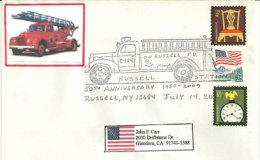 USA Fire Fighters De Russell. New-York.Caserne Des Pompiers New-York. Enveloppe Souvenir 2007 - Event Covers