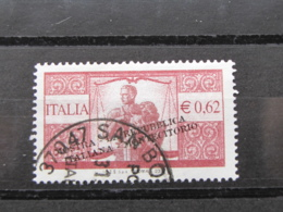 *ITALIA* USATI 2003 - MOSTRA REPUBBLICA ITALIANA NEI FRANCOBOLLI - SASSONE 2667 - LUSSO/FIOR DI STAMPA - 6. 1946-.. Repubblica