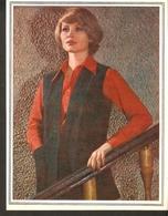 "K. USSR Soviet Russia 1979 Women Fashion Vest Pattern With Needles On The Backside Size 6""x7"" - Fashion"