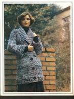 "K. USSR Soviet Russia 1979 Women Fashion Short Coat Pattern With Needles On The Backside Size 6""x7"" - Fashion"