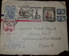 O) 1950 CIRCA-COLOMBIA, TRANSOCEANIC AIR MAIL- TRANSOCEANICO, ESTABLISHMENT OF THE CHUROGRAPHIC COMISION-MANUEL PONCE DE - Colombia