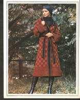 "K. USSR Soviet Russia 1979 Women Fashion Coat Pattern With Needles On The Backside Size 6""x7"" - Fashion"