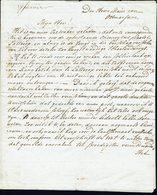 """PAYS-BAS - Marque Postale """"12 ENSCI"""" Lettre Du 17-01-1812 De Hollande, En Port Payé, Adressée Au Seigneur Maire De...... - Pays-Bas"""