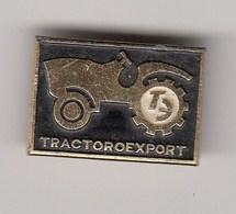 Pin Badge Anstecknadel TRACTOROEXPORT USSR Russia  Tractor Agricultural Machines Agro Landmachinen - Trademarks
