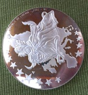 PROOF COIN MEDAL LIBERIA 1 JANUAR 2002 1$ EUROPIAN CURRENCY - Liberia