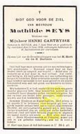 DP Mathilde Seys ° Keiem Diksmuide 1844 † 1936 X Henri Cartrysse - Devotion Images