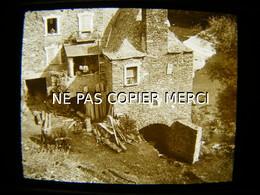 ESTAING 12 AVEYRON En 1947 Le Moulin à Eau Vue Inédite Photo Amateur Stéréoscopique Stéréo Sur Plaque 4/10 - Orte