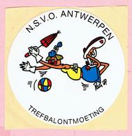 Sticker - N.S.V.O. ANTWERPEN - TREFBALONTMOETING - Pats '87 - Autocollants