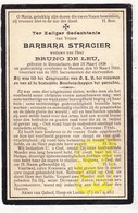 DP Barbara Stragier ° Roeselare 1838 † Menen Menin 1916 X Bruno De Leu Deleu - Devotion Images