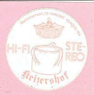 Sticker - HI-FI STEREO - Keizershof - Stationstraat Ninove - Autocollants