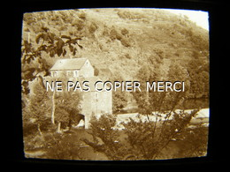 ESTAING 12 AVEYRON En 1947 Le Moulin à Eau Vue Inédite Photo Amateur Stéréoscopique Stéréo Sur Plaque 5/10 - Orte
