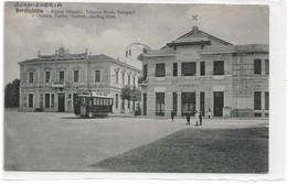 CARD BORDIGHERA PIAZZA MAZZINI  POSTE TELEGRAFI CINEMA TEATRO-VARIETA' SKATING-RINK TRAMWAY (IMPERIA)-FP-V-20882-28529 - Imperia