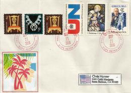 Belle Lettre De PAGO PAGO (îles Samoa Américaine), Adressée En Californie - Samoa Américaine