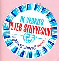 Sticker - Ik Verkies PETER STUYVESANT - ...u Geniet Zoveel Meer! - Autocollants