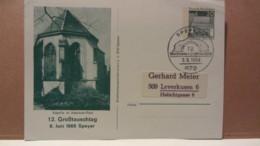 BRD: GA SoSt. SPEYER 1 Vom 9.6.1968 Privatganzsache Kapelle Im Adenauer Park 12. Großtauschtag Mit 20 Pfg Lorsch/Hessen - [7] Repubblica Federale