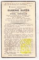 DP Eugenie Suffis ° Woesten Vleteren 1877 † Boezinge Ieper 1938 X Cyriel Verfaillie - Devotion Images