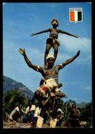 C417 CÔTE D'IVOIRE IVORY COAST - FOLKLORE ETHNICS PEOPLE COSTUMES - DANSE ACROBATIQUE GUÉRÉ - Costa D'Avorio