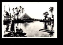 C422 CAIRO - FLOOD TIME NEAR PYRAMIDS - STAMP OF UAR UNITED ARAB REPUBLIC - Cairo