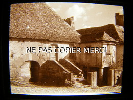 ESTAING 12 AVEYRON En 1947 Village De Sébrazac Vue Inédite Photo Amateur Stéréoscopique Stéréo Sur Plaque 10/10 - Lieux