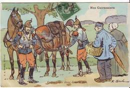 Cp Militaire  Nos Cuirassiers - Humour