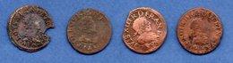 Louis XIII / Lot De 4 Doubles Tournois - 987-1789 Royal