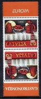 LATVIA 2005 Europa: Gastronomy Tete-beche Pair  MNH / **.  Michel 635 Kd - Latvia