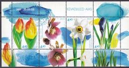 2003, EESTI, 457/60 Block 17, Frühlingsblumen. MNH **, - Estonie