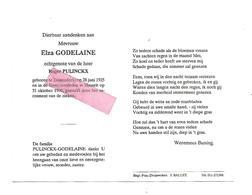 D 441. ELZA GODELAINE  Echtg. R. Pulinckx - °TESSENDERLO 1925  / +HASSELT 1990 - Devotion Images