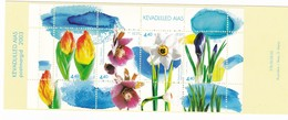 2003, EESTI, 457/60 Block 17, Frühlingsblumen. MNH **, Booklet. - Estonie