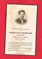 Image Pieuse ...Généalogie ... Souvenir De Mme Ernest LECHEVALIER Rappelée En 1946 Luc Ou Langrune - Devotion Images