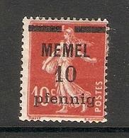 006703 Germany Memel 1920 10pf MH - Klaipeda