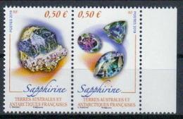 TAAF 'Mineralien, Sapphirin' / FSAT 'Minerals, Sapphirine' **/MNH 2019 - Minéraux
