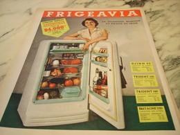 ANCIENNE AFFICHE PUBLICITE FRIGO FRIGEAVIA 1955 - Publicités