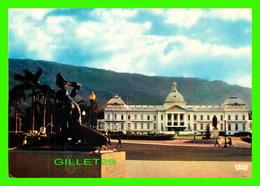 PORT-AU-PRINCE, HAITI - LE NÈGRE MARRON ET AU FOND LE PALAIS DE LA PRÉSIDENCE - ÉCRITE - - Haïti