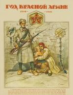 Set Of 22 Postcards Russian Revolutionary Poster Of The 1920s Communist Bolshevik Propaganda Dictatorship Of Proletariat - Russia