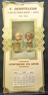 Calendrier. 18.Confiserie En Gros F. Deroteleur à ATH - Grand Format : 1941-60