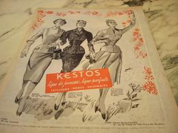 ANCIENNE PUBLICITE LIGNE JEUNE  KESTOS VAHINE  1955 - Publicités