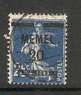 006706 Germany Memel 1920 20pf FU - Klaipeda