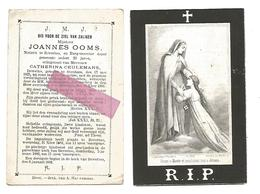 D 481. JOANNES OOMS - Notaris  En Burgemeester Te BEVERLOO - °OOSTHAM 1825 / +BEVERLOO 1881 - Devotion Images