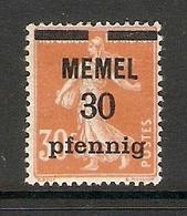 006707 Germany Memel 1920 30pf MH - Klaipeda