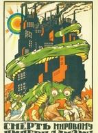 Ensemble De 22 Cartes Postales Affiche Révolutionnaire Russe Des Années 1920 Propagande Communiste Bolchevique Dictature - Russie