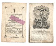 D 485. MARIA-REGINA  NOELS  Echtg. Felix Hermans -  BEVERLOO  1823 / 1858 - Devotion Images