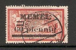 006710 Germany Memel 1920 60pf FU - Klaipeda