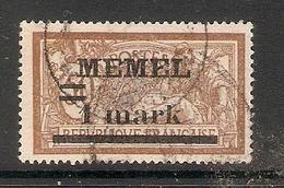 006711 Germany Memel 1920 1 Mark FU - Klaipeda