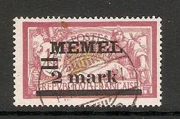 006712 Germany Memel 1920 2 Mark FU - Klaipeda